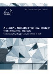 A GLOBAL BRITAIN From local startups to international markets