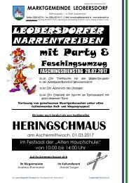 Postwurf Februar II 2017 / Marktgemeinde Leobersdorf