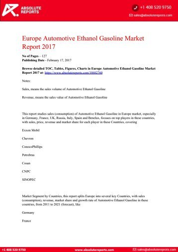 10602760-Europe-Automotive-Ethanol-Gasoline-Market-Report-2017