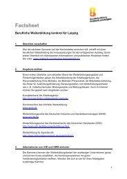 Factsheet - Berufliche Bildung - Praktisch unschlagbar