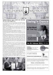 Swing in Eppelheim Sonntag, 05. Februar 2012, 19 Uhr
