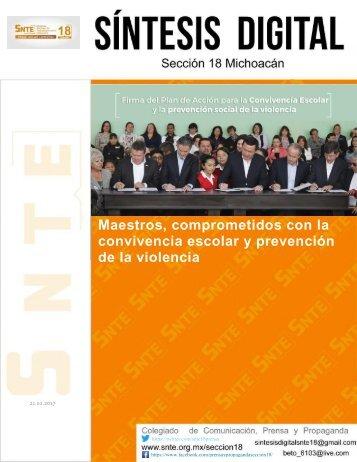 Maestros comprometidos con la convivencia escolar y prevención de la violencia