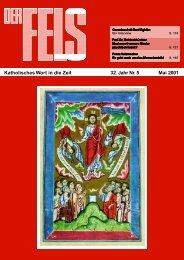 Katholisches Wort in die Zeit 32. Jahr Nr. 5 Mai 2001 - Der Fels