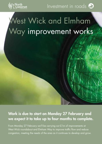 West Wick and Elmham Way improvement works