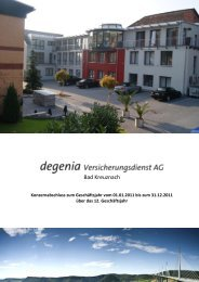 Bilanz 2011 - Degenia