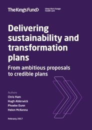 Delivering sustainability and transformation plans
