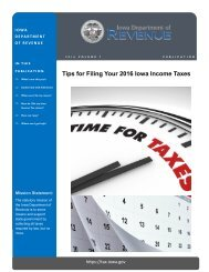 Tips for Filing Your 2016 Iowa Income Taxes