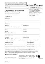 Angebotsanfrage – Invitatio-Modell Rechtsschutz-Versicherung
