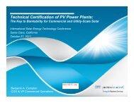 Technical Certification of PV Power Plants: - International Solar ...