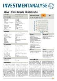 Lloyd - Hotel Leipzig Nikolaikirche.FH11 - Lloyd Fonds AG