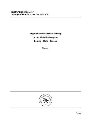 Regionale Wirtschaftsförderung in der ... - Leipziger Societät