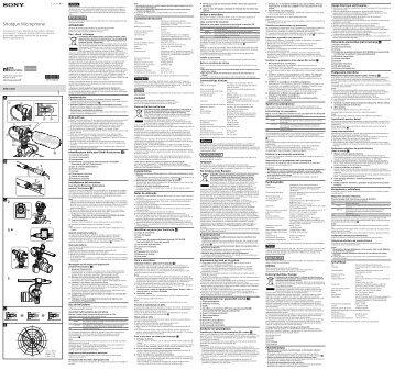 Sony ECM-CG60 - ECM-CG60 Istruzioni per l'uso Portoghese
