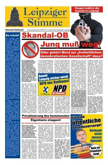 Der rechte Draht 089-89608568 7. Juni Europawahl ... - NPD-Leipzig
