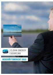 Clean Energy Sourcing GmbH - Geschäftsbericht 2010