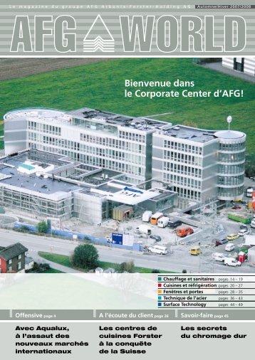 Bienvenue dans le Corporate Center d'afg!