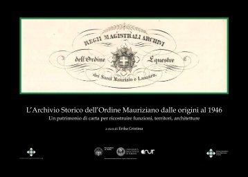 L'Archivio Storico dell'Ordine Mauriziano dalle origini al 1946