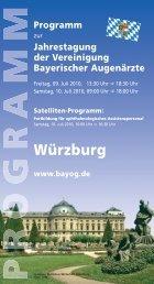 Programm - Universitätsklinikum Würzburg