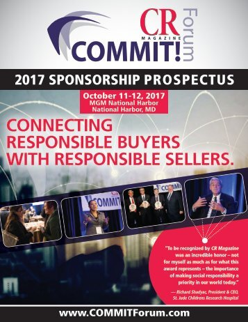 CONNECTING RESPONSIBLE BUYERS WITH RESPONSIBLE SELLERS