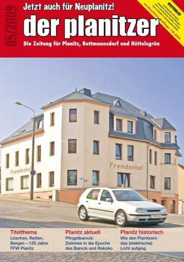 dorf und Hüttelsgrün: Am 4. Juni 2009 um 19.00 Uhr ... - der planitzer