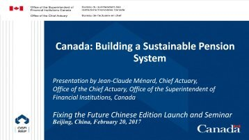 Canada Building a Sustainable Pension System
