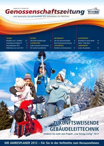 Genossenschaftszeitung Nr. 41 - Dezember 2011 [3,2 MB - Wewobau