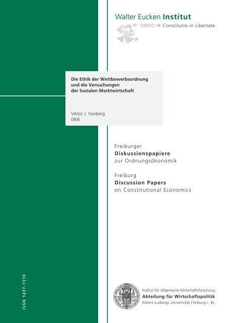 Diskussionspapiere - Walter Eucken Institut