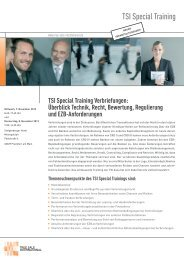 TSI Special Training Verbriefungen - True Sale International GmbH