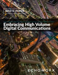 Embracing High Volume Digital Communications