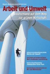 Magazin: Arbeit und Umwelt - Deutschland auf dem Weg zur grünen ...