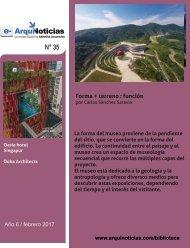 e-AN 35 N° 2 Forma + terreno = función por  Carlos Sanchez Saravia