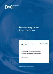 Transition towards a Social Market Economy: Limits and Opportunities.