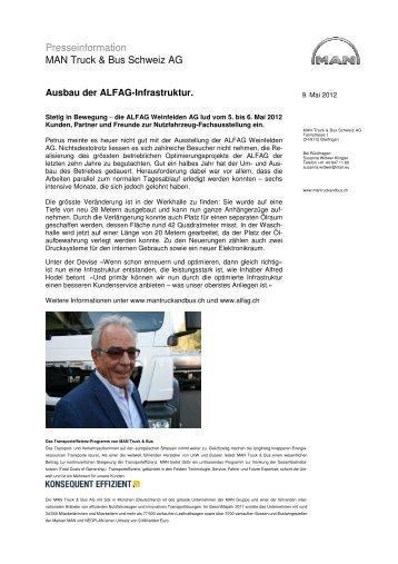 Presseinformation MAN Truck & Bus Schweiz AG - Swisstruck