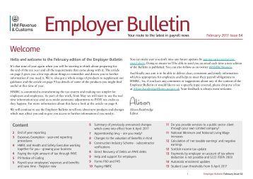 Employer Bulletin