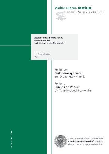 Diskussionspapiere - Abteilung für Wirtschaftspolitik und ...