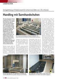 Handling mit Samthandschuhen - FM DAS LOGISTIK-MAGAZIN