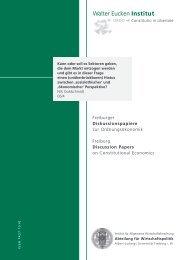 Institut - Abteilung für Wirtschaftspolitik und Ordnungstheorie - Albert