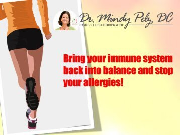 Bring your immune system back into balance and stop your allergies!