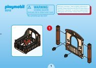 Playmobil 5518 - Notice de montage Playmobil 5518