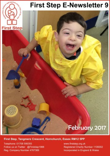 First Step E-Newsletter 9 February 2017