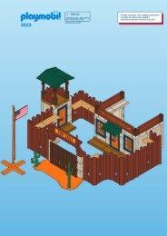Playmobil 3023 - Notice de montage Playmobil 3023