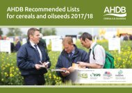 AHDB Recommended Lists for cereals and oilseeds 2017/18