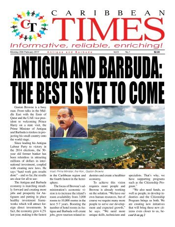 Caribbean Times 1st Issue