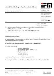 Dr. Schellenberg Rottweil GmbH - IfM  Institut für Materialprüfung ...