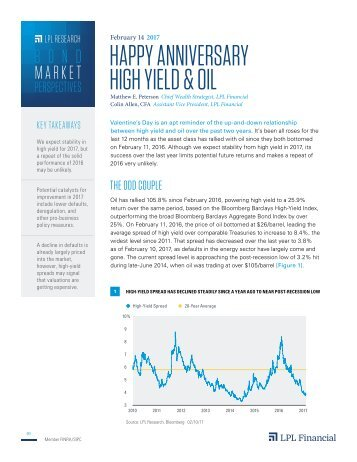 HAPPY ANNIVERSARY HIGH YIELD & OIL