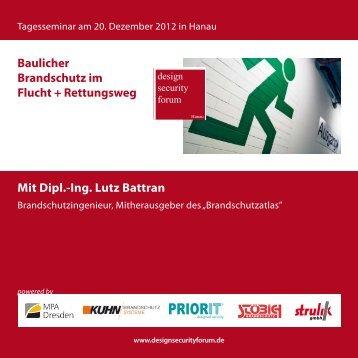 Baulicher Brandschutz im Flucht + Rettungsweg Mit Dipl.-Ing ... - Priorit