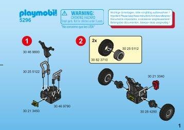 Playmobil 5296 Agent Secret et gyropode - Agent Secret et gyropode