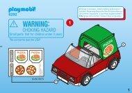 Playmobil 6292 Voiture de livraison de pizzas - Voiture de livraison de pizzas