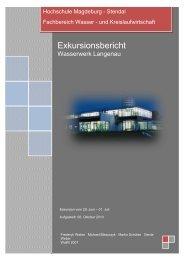 Exkursionsbericht - Hochschule Magdeburg-Stendal