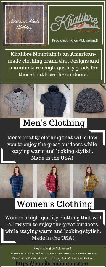 018dd92d1 Buy Mountain Coats and Beanies at Khalibre Mountain