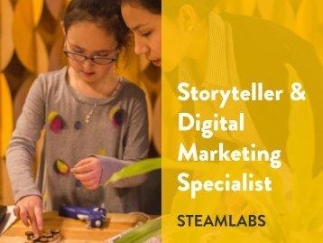 Storyteller & Digital Marketing Specialist